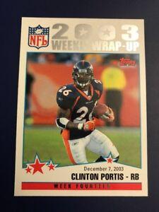 2004-Topps-304-CLINTON-PORTIS-W-Wrap-Up-Denver-Broncos-RB-Awesome-Card