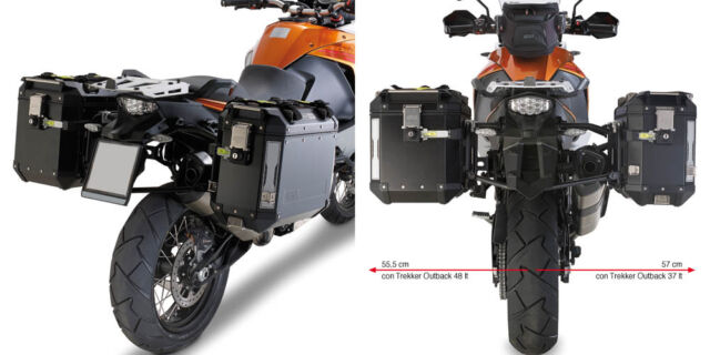 GIVI LUGGAGE RACK SIDE FOR MONOKEY CAM-SIDE KTM 1290 SUPER ADVENTURE T 2017