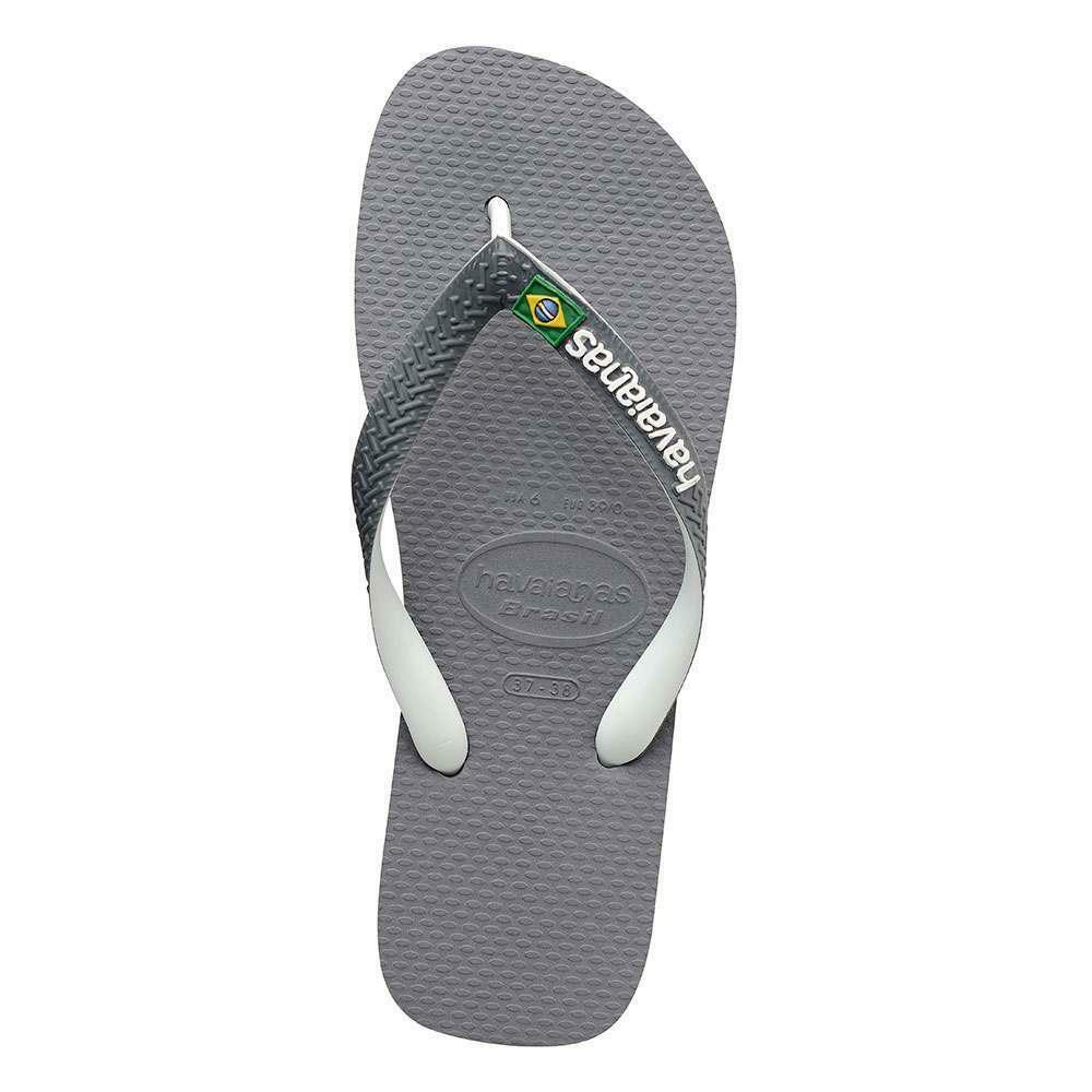 Havaianas Brasil Mix Sandals Steel Grey White Havaianas Men's shoes