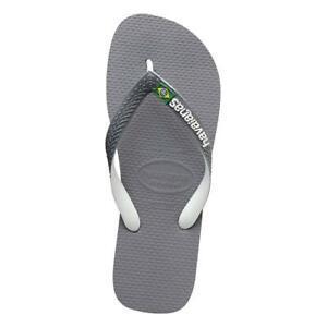 5280be7c01b33 Image is loading Havaianas-Brasil-Mix-Sandals-Steel-Grey-White-Havaianas-