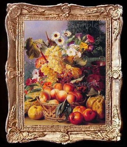 Fruit /& Floral  Still Life Miniature Dollhouse Picture