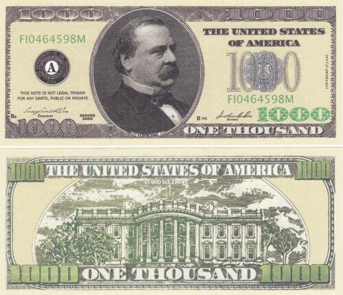10 Casino Style $1,000 Cleveland Novelty Money Bills Lot