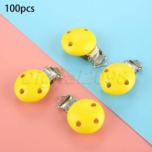 5//10//50//100pcs Polish Wood Spacer Wooden Nipple for Birthday Jewelry Making