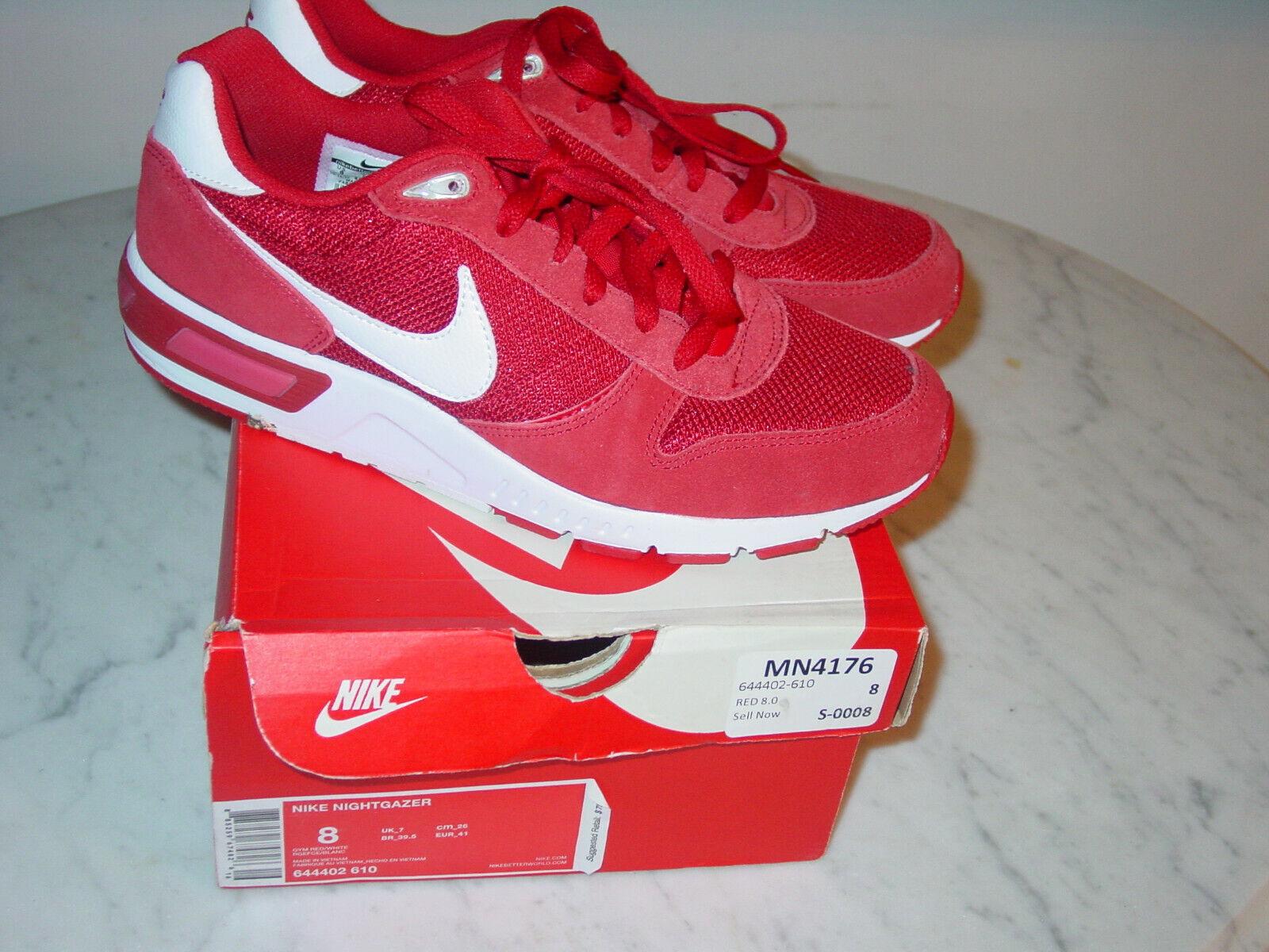 2014 Mens Nike Nike Nike Nightgazer Gym Red White Running shoes  Size 8 w Box  2d0cc4