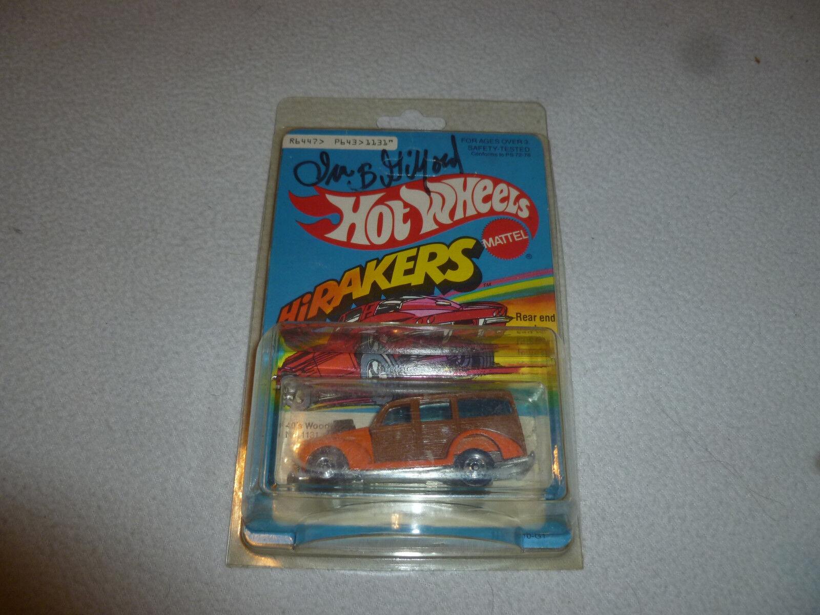 Nouveau HOTWtalons haute RAKERS 40  S boisie Nº 1131 signé ira B Gilford Mattel neuf sur voiturete 1979  plus vendu