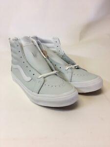 0daa8dc1c0 Vans SK8 Hi Slim Zip Leather Zephyr Blue Women s Skate Shoes Size ...