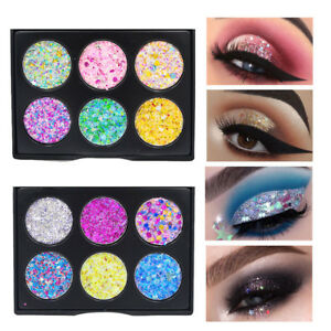 Shimmer-Glitter-Eye-Shadow-Powder-Palette-Matte-Eyeshadow-Cosmetic-Makeup-Lot-US