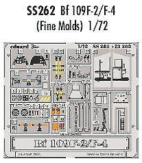 Eduard 1//72 Messerschmitt Bf 109F-2//F-4 etch for Fine Molds # SS262