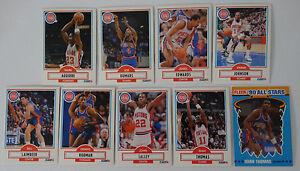 1990-91-Fleer-Detroit-Pistons-Team-Set-Of-9-Basketball-Cards