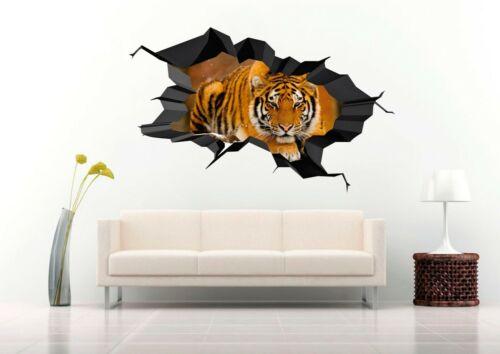 Nice Tiger Sleeping  3D Wall Decal  Nursery Vinyl Decal Sticker