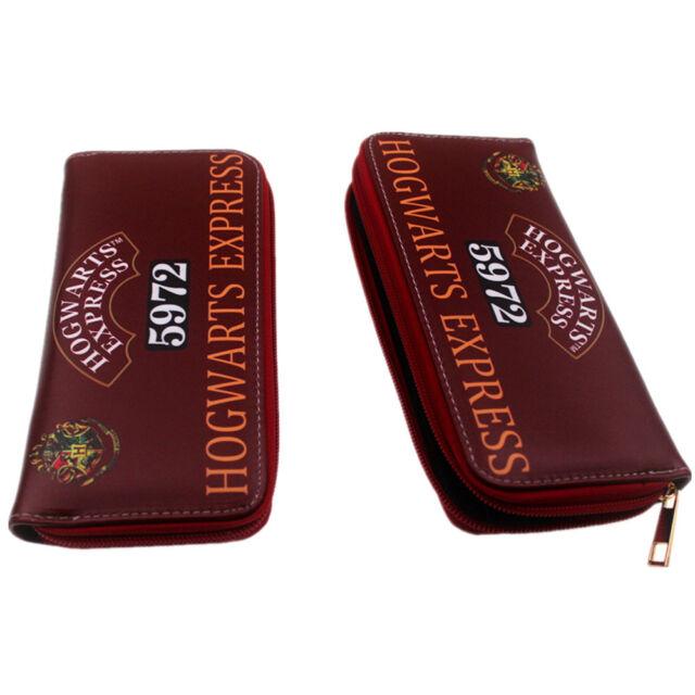 Harry Potter Wallet Coin Long Zipper Wallet Handbags Leather Pu Purse Otaku Gift