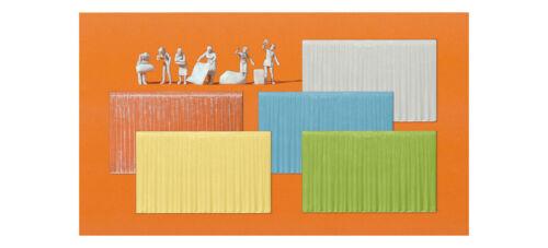 Preiser 16360 HO Am Fenster 6 Figuren 16 Vorhänge in 67x41 in 5 versch Farben