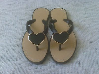 Ladies Heart Toe Post Jelly Sandals size 4/37