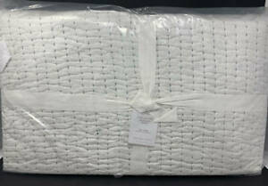 New Pottery Barn Nellie Pick Stitch Tassel Cotton Quilt