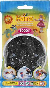 Hama 1000 Midi Bügelperlen 207-18 Schwarz Ø 5 mm Perlen Steckperlen Beads