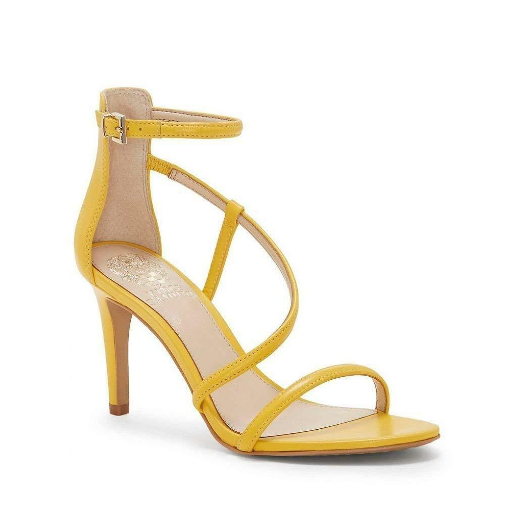 Vince Strap Camuto Careleen Citrine Yellow Leder Ankle Strap Vince Dress Sandale Heel 7.5 51011e