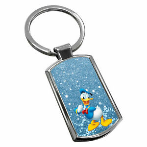 Donald-Duck-Keyring-Chrome-Metal-New-Key-Chain-Ring-Fob-Comes-With-Free-Box