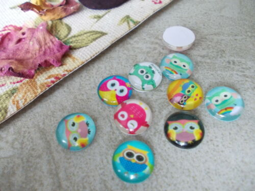 AMOUNT 10mm FUN ROUND MIXED STYLES TEMPERED GLASS CABOCHON CHOOSE DESIGN
