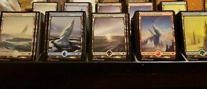 MTG magic cards playset of 20 snow-covered basic lands Modern Horizons