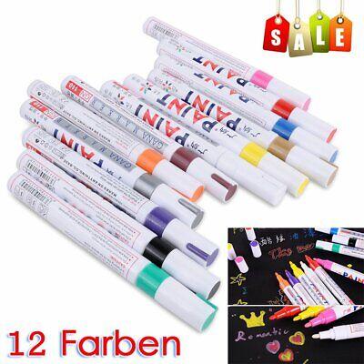 20 Farben Metallic Permanent Paint Pen Marker Stift Acrylstifte Set Lackstift