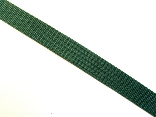 """Webbing 1/"""" Inch Wide Forest Green Polypropylene Sold By-The-Yard 36/"""""""
