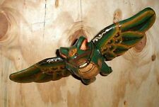 "Frog Flying Hanging Bali Wood Carving Large 20"" Antique style SUPERSIZE AS IS"