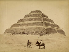 Photo Zangaki Albuminé Egypte Pyramide Vers 1880