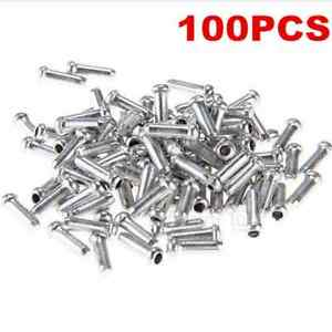 100PC-Mini-Bicycle-Shifter-Brake-Gear-Inner-Cable-Tips-Ends-Caps-Crimps-Ferrules