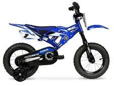 """Boys BMX Bike with Training Wheels 12"""" Yamaha Moto Child's Kids Bicycle NEW Blue"""