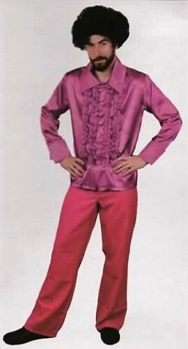 Pink Disco Shirt Adult Costume ideal for 60s 70s parties stag pimp