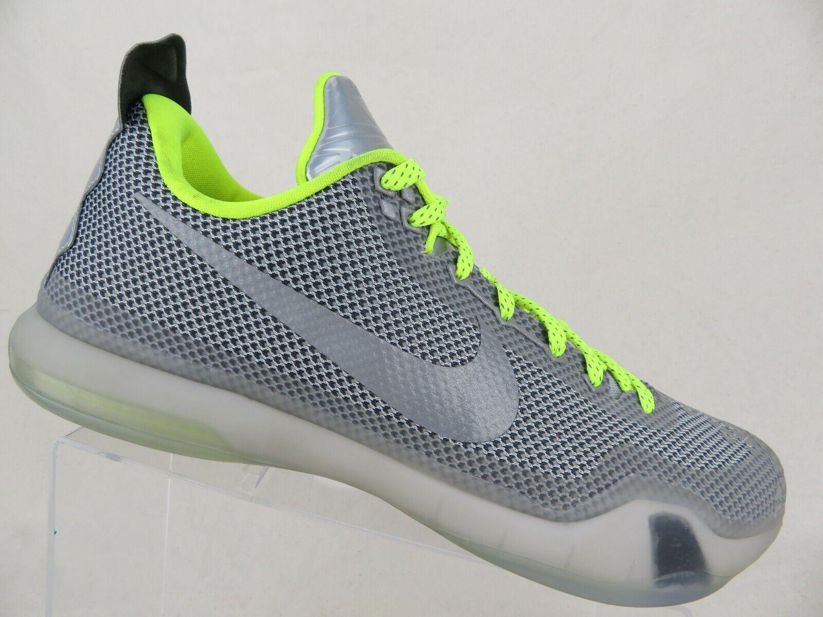 NIKE ID Kobe X 10 Metallic Grey Sz 12 Men Basketball shoes