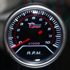 "2"" 52mm Car Universal Pointer Tacho Tachometer Gauge Meter Smoke Tint Len LED"