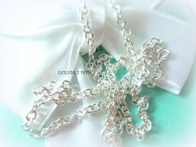 """TIFFANY & CO STERLING SILVER 18"""" CHAIN THE THICKEST PENDANT CHAIN TCO STURDY NEW"""