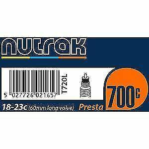 Nutrak inner tube 18-23mm 700c Road Bike Long Presta Valve MULTI-BUY DISCOUNTS