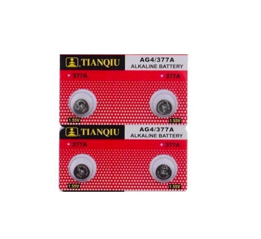 4X Battery LR626 Alkaline SR626SW SR626 LR626 AG4 377 1,5V Battery Button