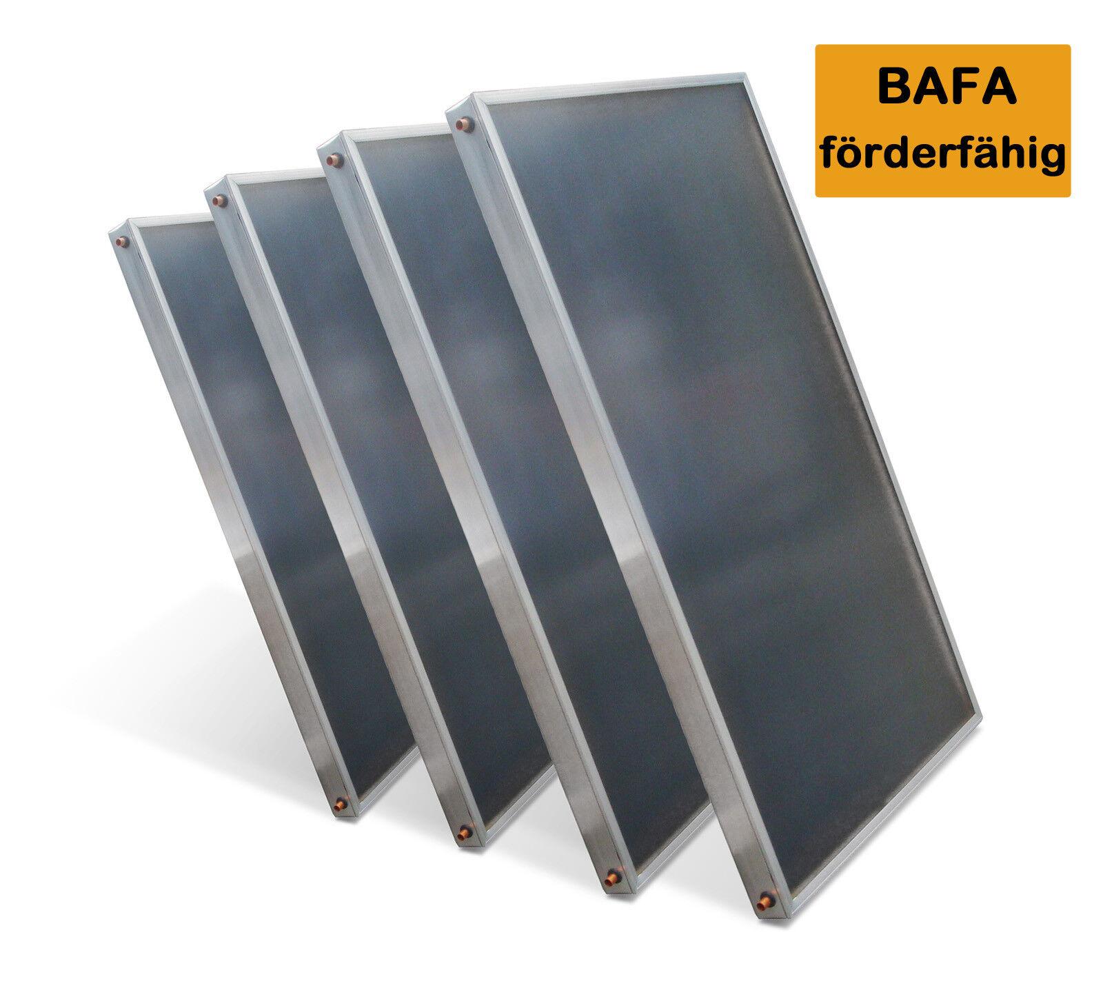 4 Hochleistungs Premium Solarkollektoren Paket Flachkollektor AMP 2.0 - 2,01qm