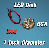 Led Disk - Red 1 Inch Diameter Circuit Board 5mm Leds