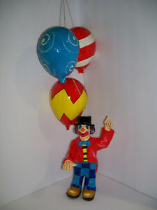 vintage-Clown-Paper-Mache-Hanging-Decor-Mexico-made-amp-signed