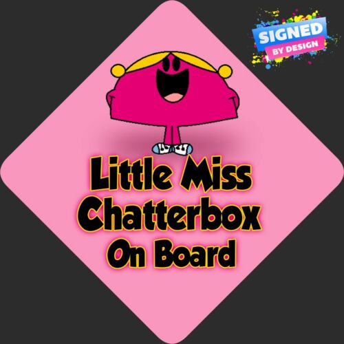 Non Personalised Baby on Board Car Sign Like Little Miss Chatterbox