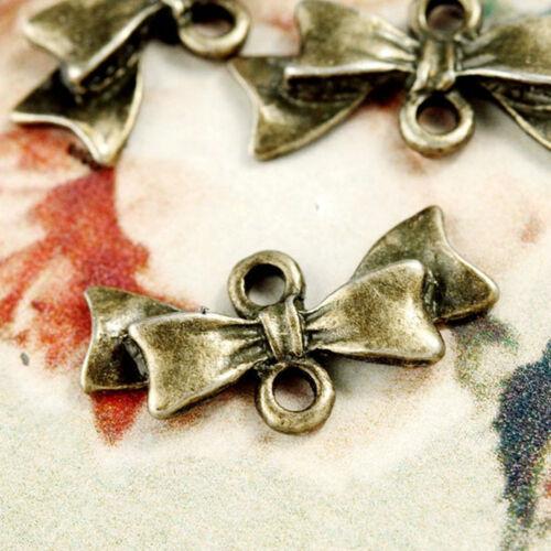 35 Connecteurs Argenté Tibétain Noeud Papillon Bronze Antique 20x11mm TS5026