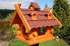 Dach dunkel Nr.2 * Vogelhaus Vogelvilla Vogelfutterhaus Futterhaus mit Ständer