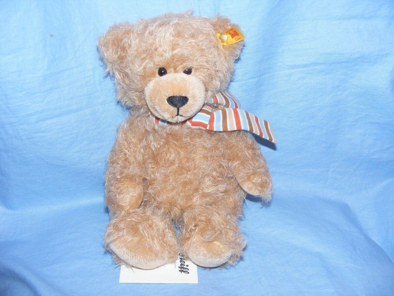Steiff Klassisches Teddybär Nils Bär Keilzinkenanlage Hellbraun 26cm 026829