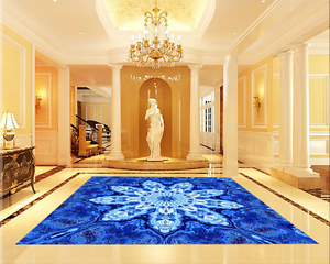 3D bluee Flower Art 79 Floor WallPaper Murals Wall Print Decal 5D AU Lemon