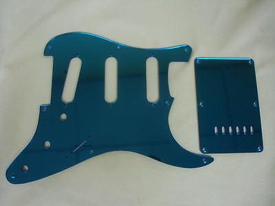 Fender Squier Strat Blue Mirror Pickguard Set