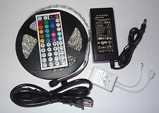 16.4FT 5M 5050 RGB SMD LED Waterproof Flexible Strip 300 LEDs + 44 Key IR Remote
