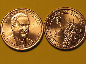 1 Coin 2014-D Franklin Roosevelt Dollar.