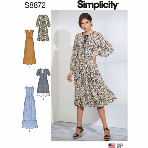 4-6-8-10-12 Simplicity Sewing Pattern 8872 Dresses D5