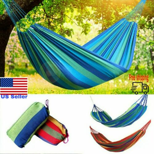 Details about  /Hot Sell Portable Cotton Rope Hanging Tree Hammock Outdoor Swing Camping Sleep