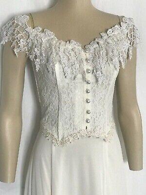 S-XXXL Beach Ivory Elegant Lace Casual Western Wedding Dress