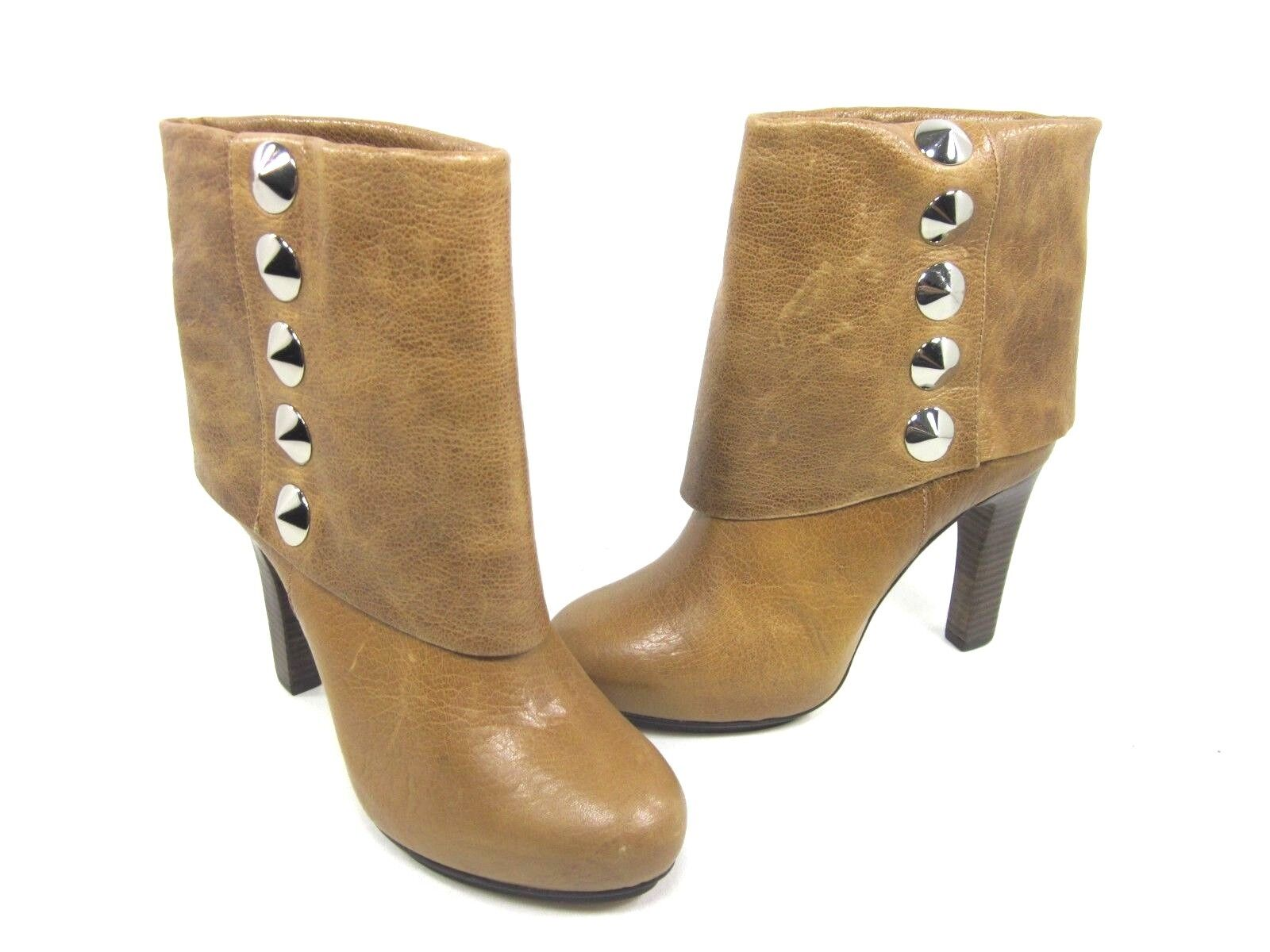 BE & D WOMEN'S LANGLEY ANKLE BOOT, COGNAC, 38 EU 8 US M, NEW  DISPLAY W O BOX